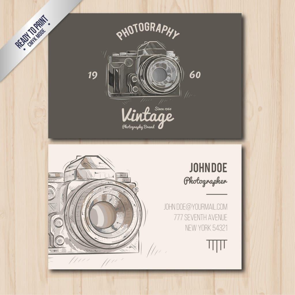 Thiết kế card visit nhiếp ảnh gia ấn tượng