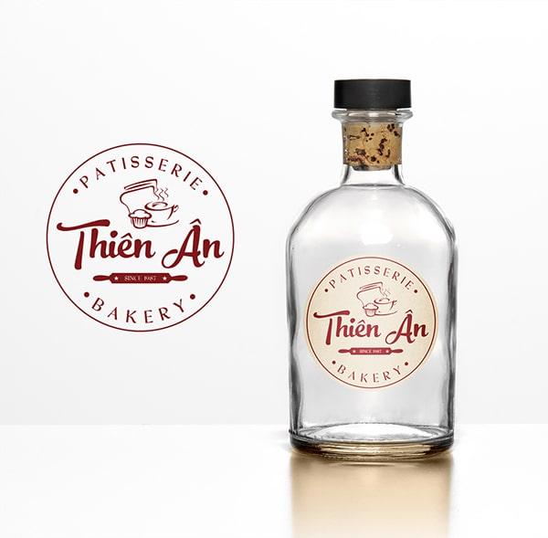 Thiết kế Tem - Nhãn tiệm bánh Thiên Ân