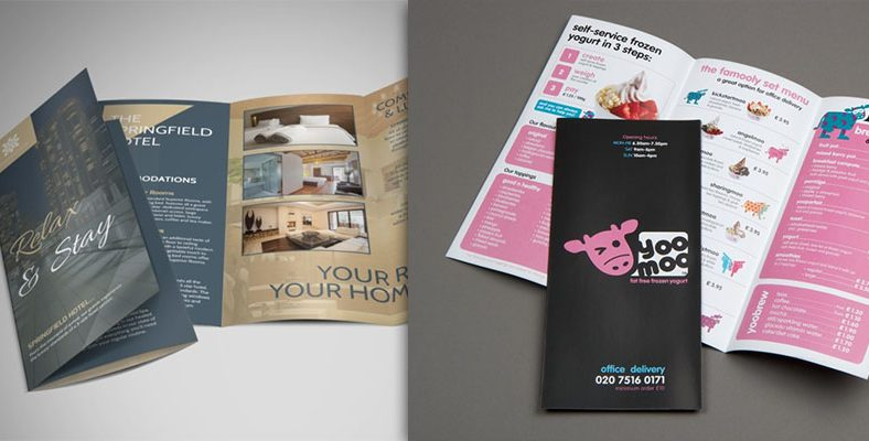 Dịch vụ thiết kế brochure gấp 3 giá rẻ
