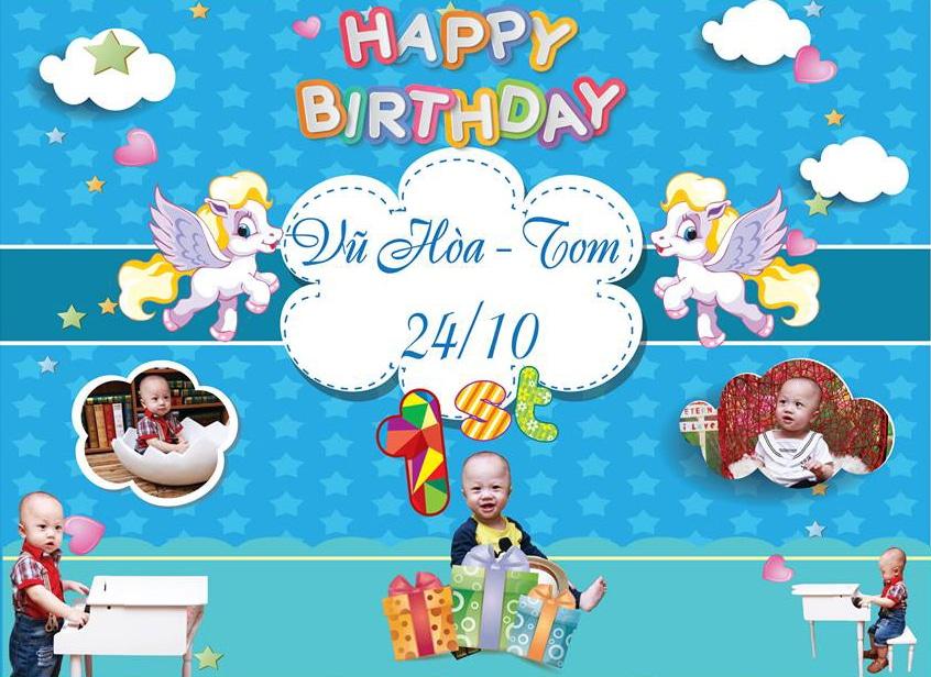 Banner sinh nhật cho bé