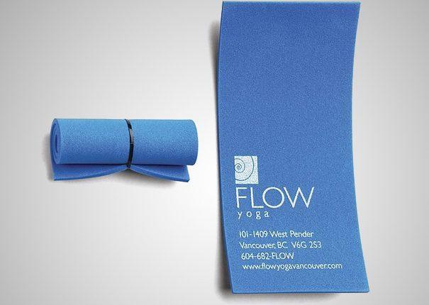 Card visit sáng tạo hình thảm tập yoga