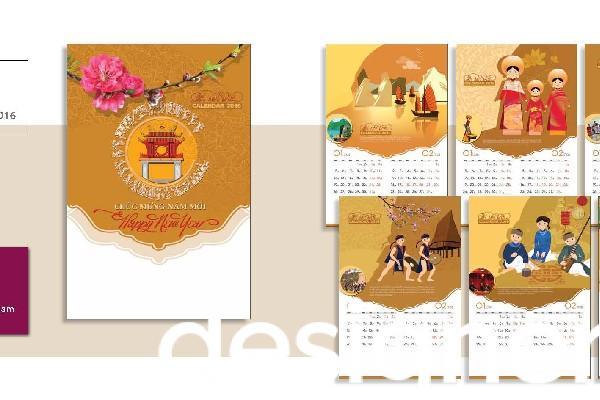 Top 4 phong cách thiết kế lịch nẹp thiếc