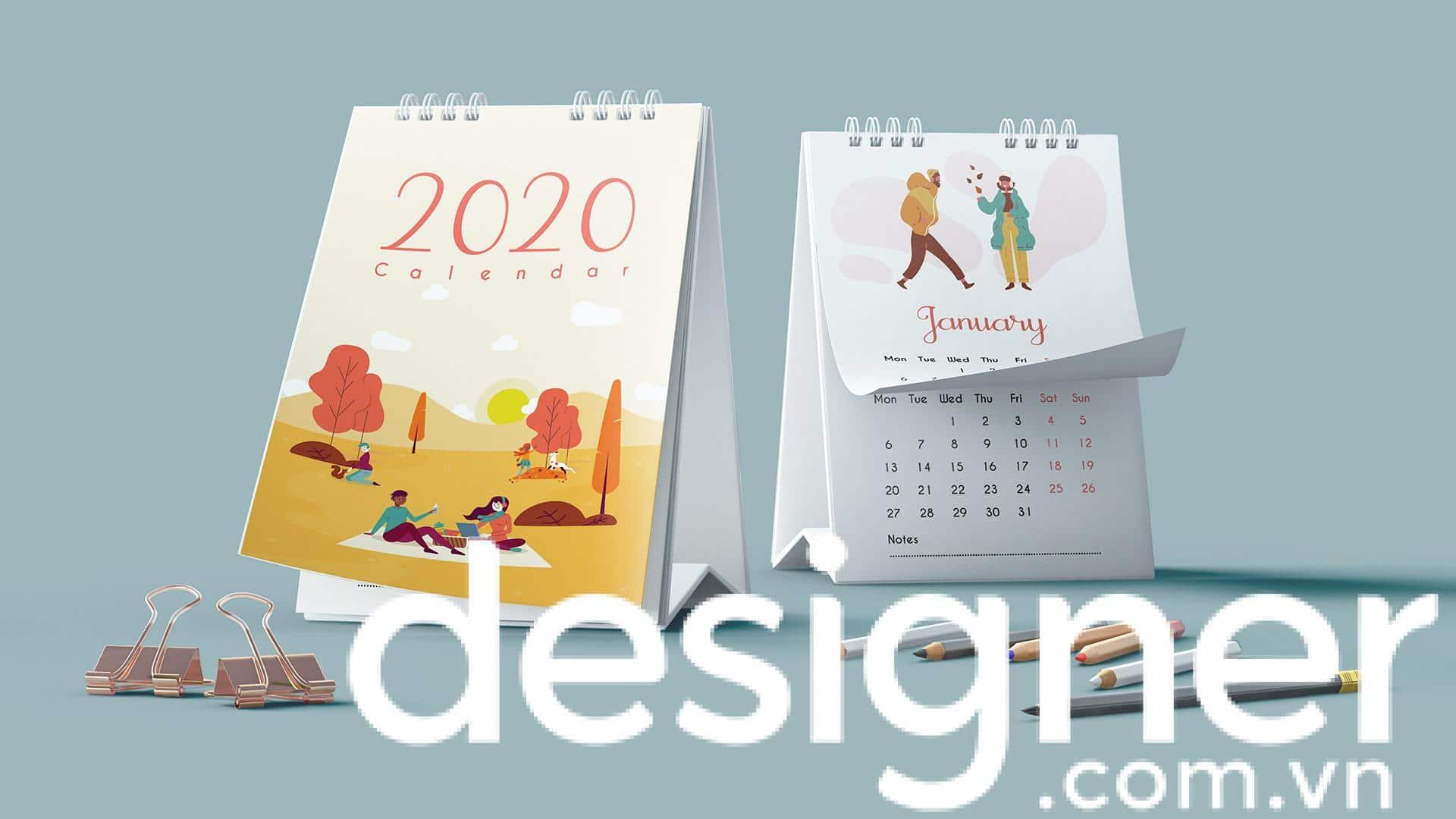 Top 6 phong cách thiết kế lịch để bàn