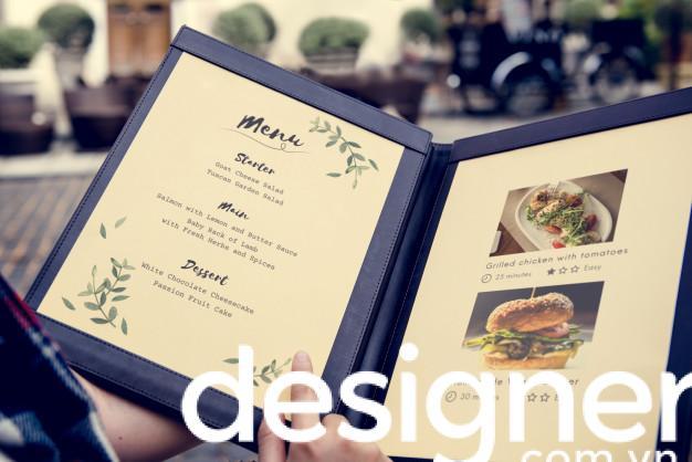 Top 4 phong cách thiết kế menu nhà hàng