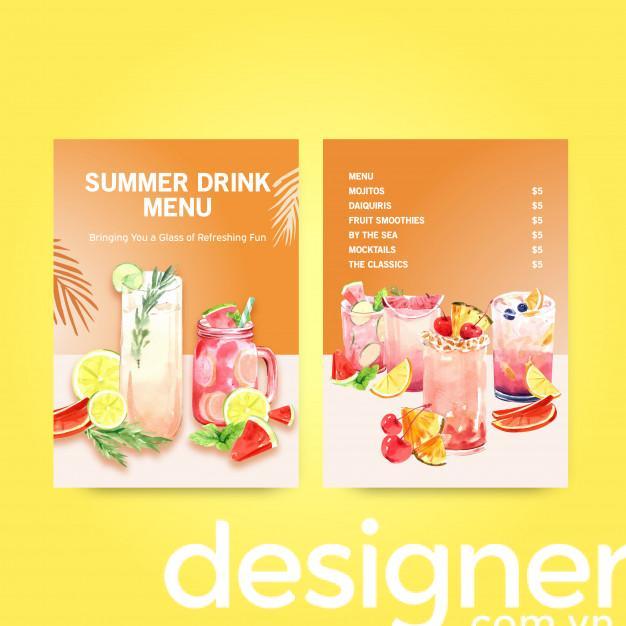 Top 4 phong cách thiết kế menu nước mát
