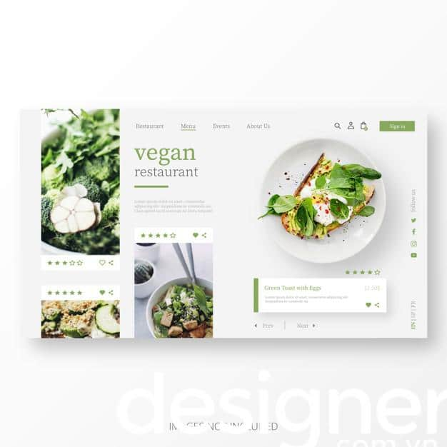 Top 4 phong cách thiết kế menu nhà hàng chay