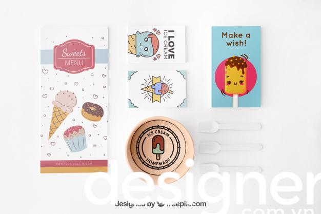 Top 3 phong cách thiết kế menu quán kem