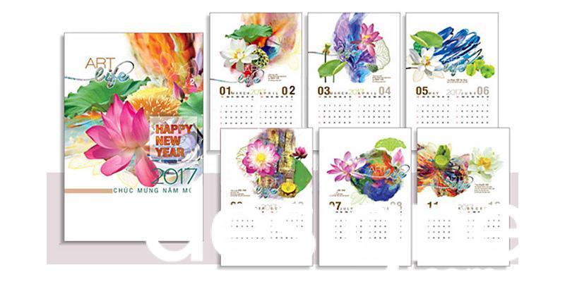 Top 4 phong cách thiết kế lịch lò xo