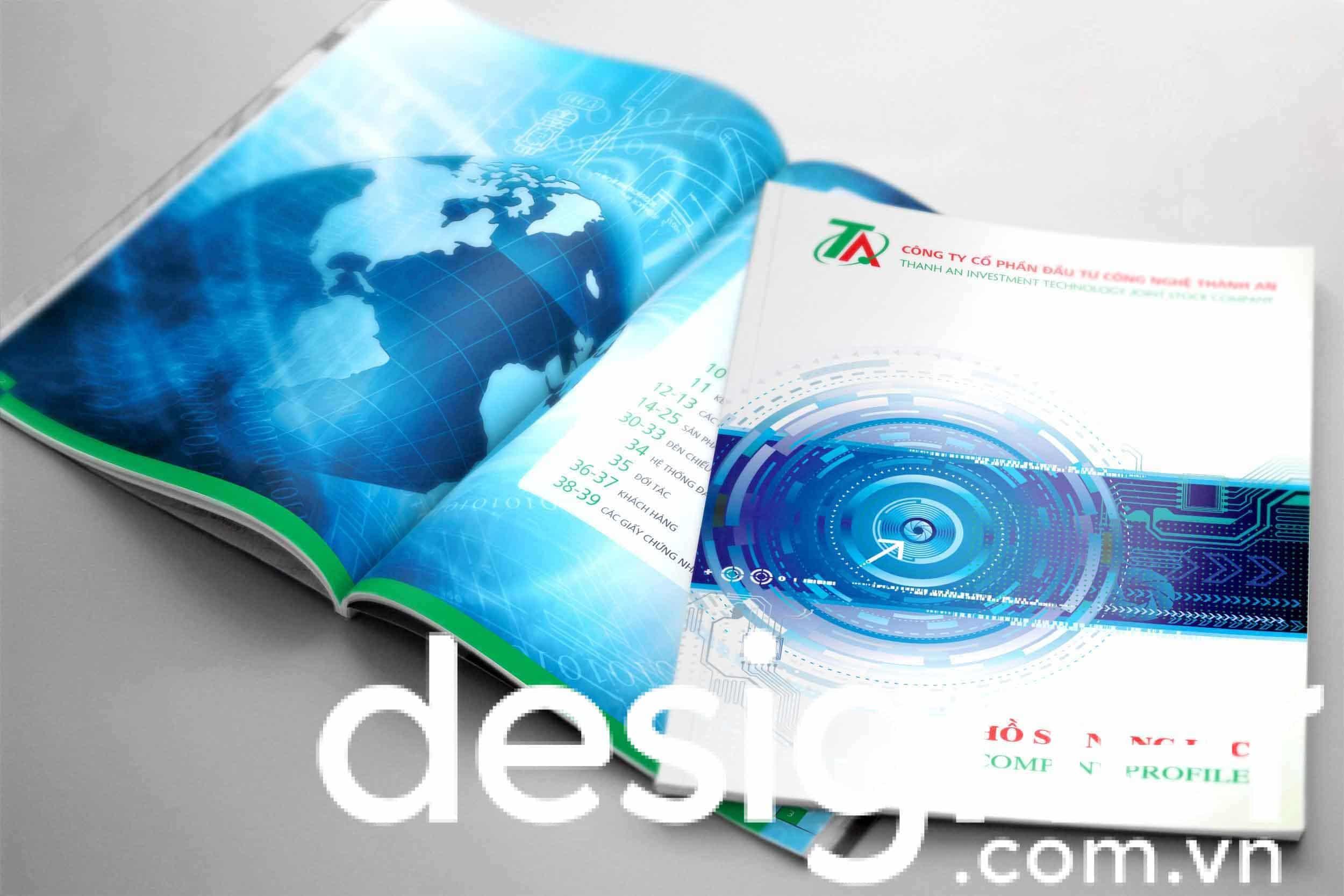 Top 3 phong cách thiết kế hồ sơ năng lực công ty ngành máy ảnh, máy quay