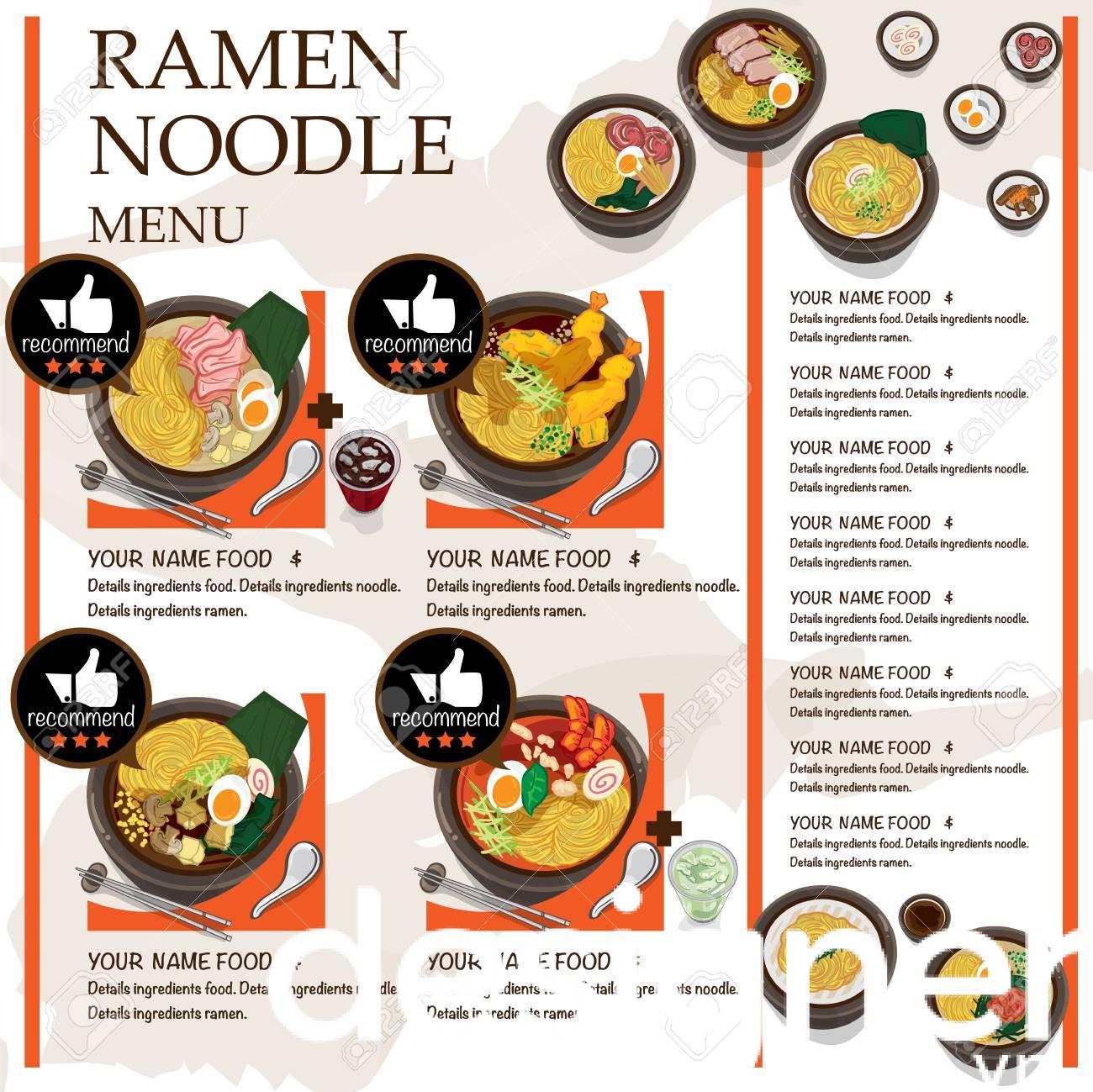 Top 4 phong cách thiết kế menu mỳ Ramen Nhật Bản