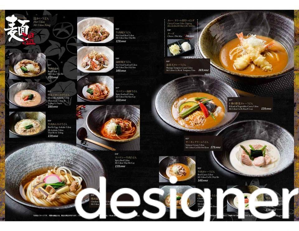 Top 4 phong cách thiết kế menu Mỳ Udon Nhật Bản