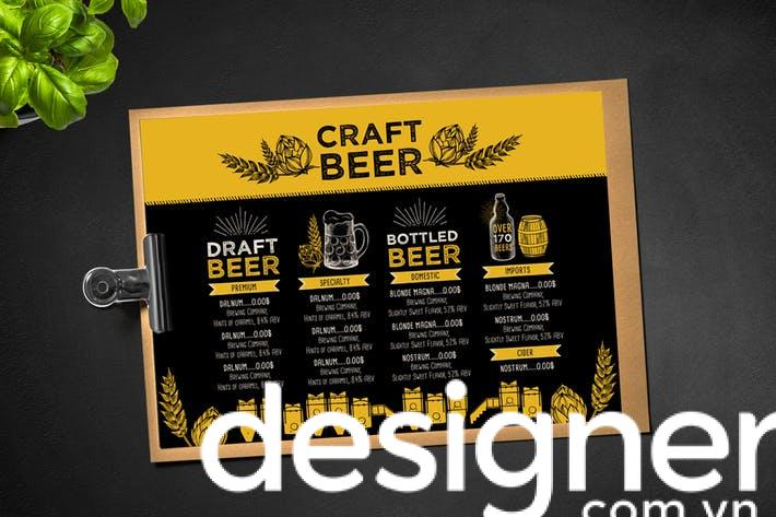 Top 4 phong cách thiết kế menu quán Bia