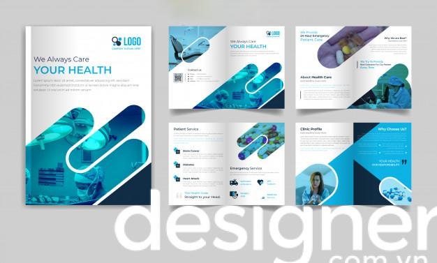 Top 4 phong cách thiết kế hồ sơ năng lực công ty ngành y tế, sức khỏe
