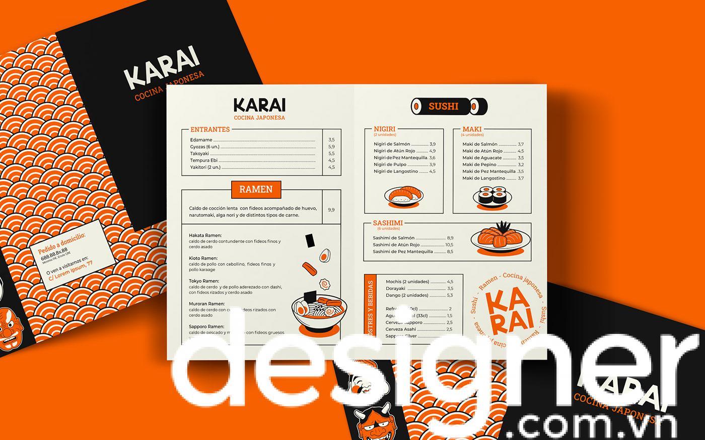 Top 4 phong cách thiết kế menu nhà hàng Nhật