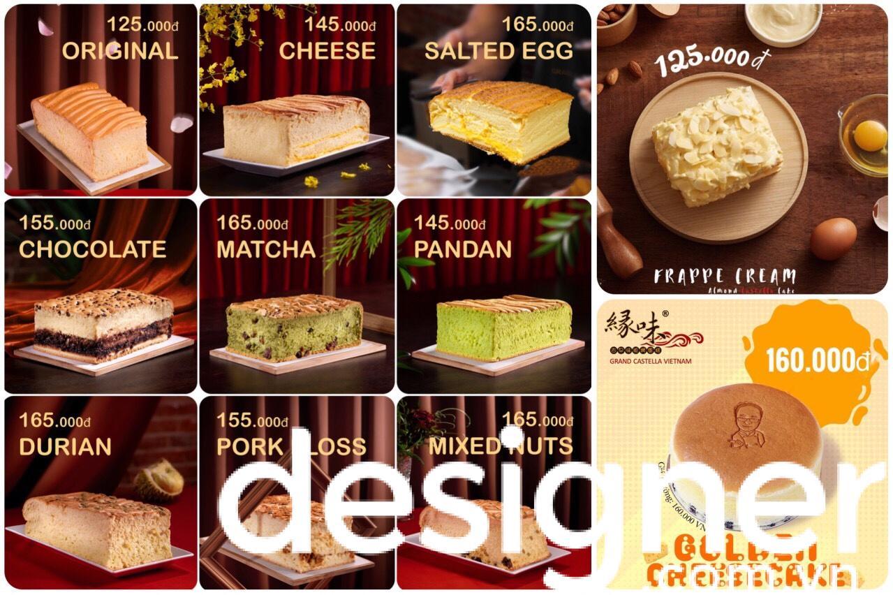 Top 4 phong cách thiết kế menu cửa hàng bánh bông lan